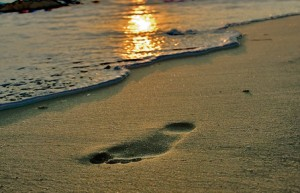 footprint-on-sand